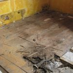 water damage restoration demo