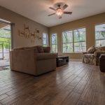 Wood-Look Tile Flooring in Livingroom