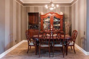 Wood-Look Tile Flooring in Dining Room