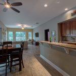 Wood-Look Tile Flooring in Kitchen