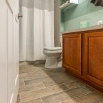 Wood-Look Tile Flooring in Bathroom