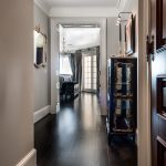 Custom Black Oak Flooring in Hallway
