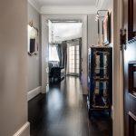 Custom Black Oak Flooring in Hallway