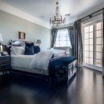 Custom Black Oak Flooring in Bedroom