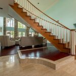 Brazilian Cherry Rouge Flooring in Stairway
