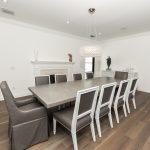 Custom Grey Oak Flooring In Dining Room