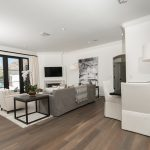 Custom Grey Oak Flooring In Living Room