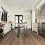 Custom Grey Oak Flooring In Kitchen