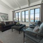 Custom Grey Oak Flooring In Family Room