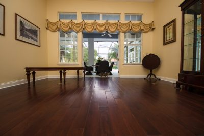 Copaiba Lava Wood Flooring in Dining Room