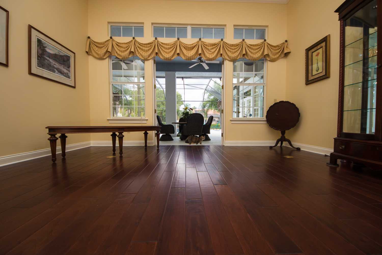 Copaiba Lava Wood Flooring in Dining Room
