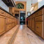 Copaiba Lava & Porcelain Flooring in Kitchen