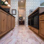 Copaiba Lava & Porcelain Flooring in Kitchen