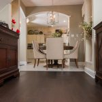 Mellow Oak Wood Flooring with Tile in Dining Room