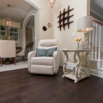 Mellow Oak Wood Flooring in Entryway overlooking Dining Room