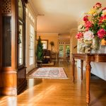 Mirage Sierra Oak Wood Flooring in Entryway with grandfather clock