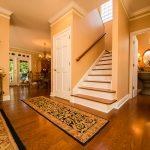 Mirage Sierra Oak Wood Flooring in Stairway with peach walls