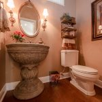 Mirage Sierra Oak Wood Flooring in Bathroom with decorative sink