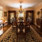 Mirage Sierra Oak Wood Flooring in Dining Room with antique furniture