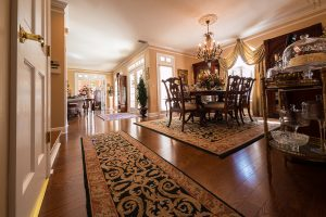 Mirage Sierra Oak Wood Flooring in Dining Room overlooking entry