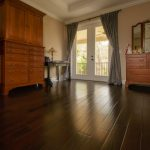 Spanish Hickory Blackhills Wood Flooring in Bedroom with Amorie
