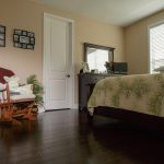 Spanish Hickory Blackhills Wood Flooring in Bedroom palm sheets