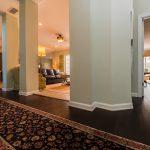 Brown Distressd Birch Wood Flooring in Hall