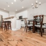 Champagne Hickory flooring kitchen and dining room