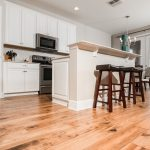 Champagne Hickory flooring kitchen and breakfast nook