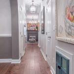 Wire-Brushed Brown Hickory flooring hallway view