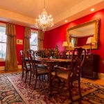 Gunstock Solid Oak flooring formal dining room