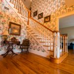 Gunstock Solid Oak flooring stairwell and living room