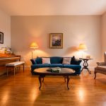 Gunstock Solid Oak flooring piano room