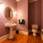 Gunstock Solid Oak flooring half bathroom