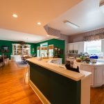 Gunstock Solid Oak flooring kitchen and dining room