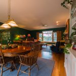 Gunstock Solid Oak flooring living room, dining room and kitchen