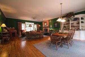 Gunstock Solid Oak flooring living room and dining room