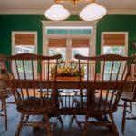 Gunstock Solid Oak flooring dining room