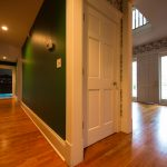 Gunstock Solid Oak flooring hall way and entry