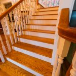 Gunstock Solid Oak flooring stairwell