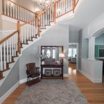 Natural Solid Oak flooring stairwell and landing