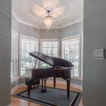 Natural Solid Oak flooring piano room