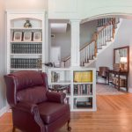 Natural Solid Oak flooring sitting room and stairwell