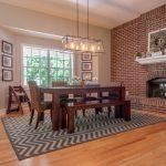 Natural Solid Oak flooring dining room