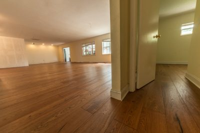 European White Oak flooring living room and bedroom