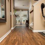PVC Vinyl & Gray Carpet flooring hallway