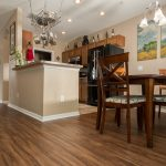 PVC Vinyl & Gray Carpet flooring kitchen and breakfast nook