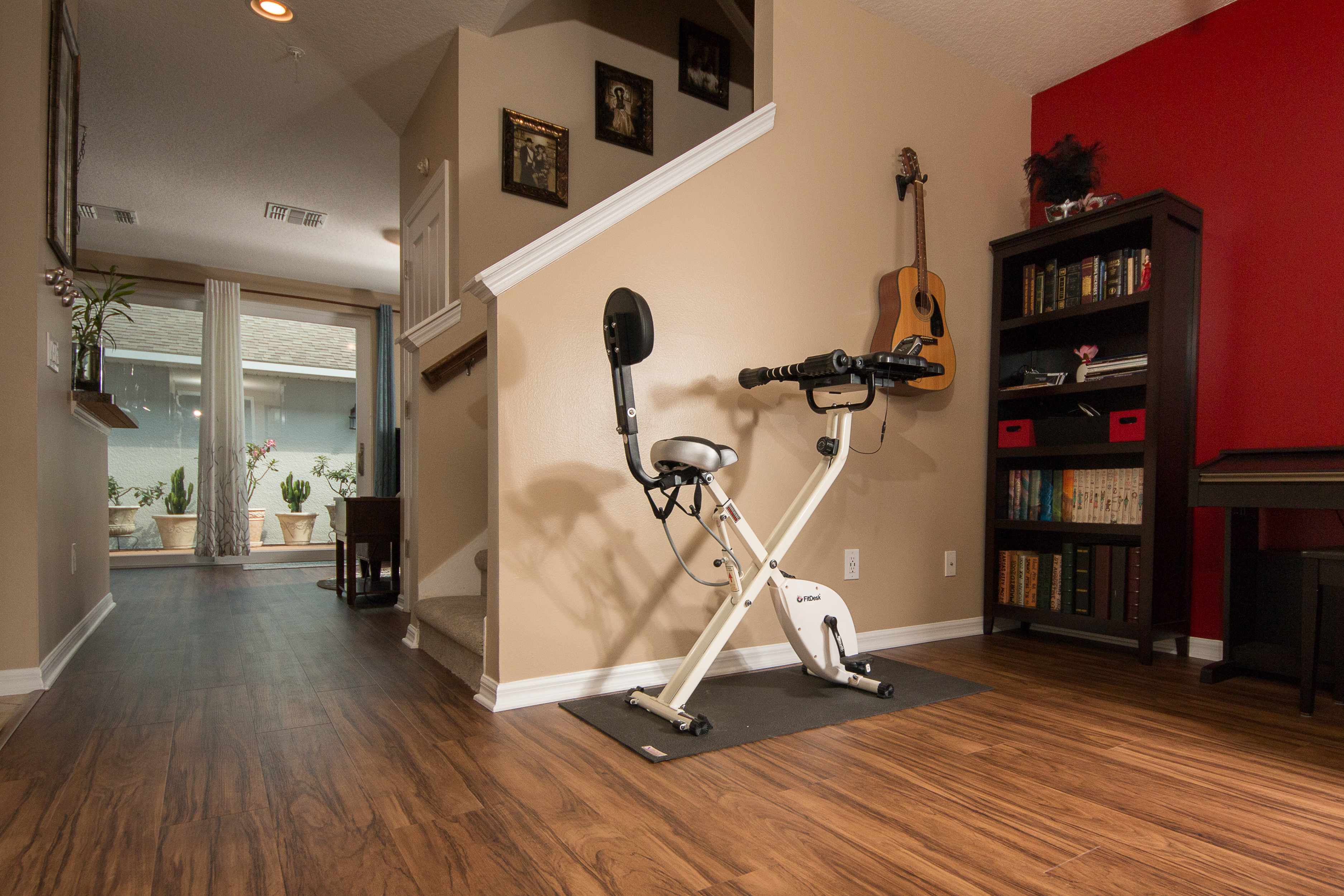 PVC Vinyl & Gray Carpet flooring workout area