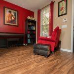 PVC Vinyl & Gray Carpet flooring piano room