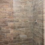 wood look porcelain in shower
